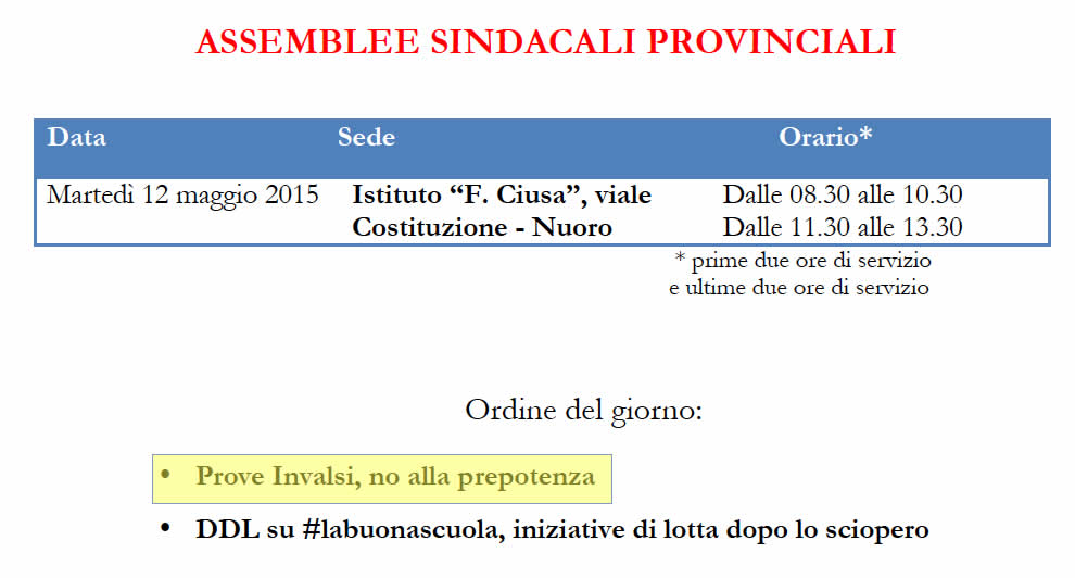No alle prove invalsi!