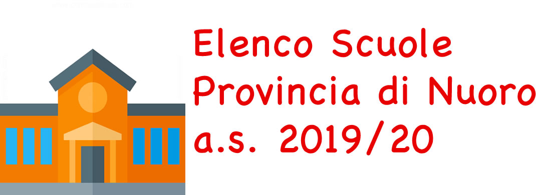 Elenco Scuole Provincia Nuoro as 2017/18