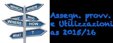 speciale assegnazioni e utilizzazioni 2015/16